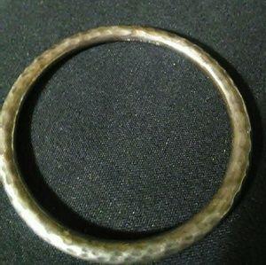 Vintage Solid Silver Hammered Bangle